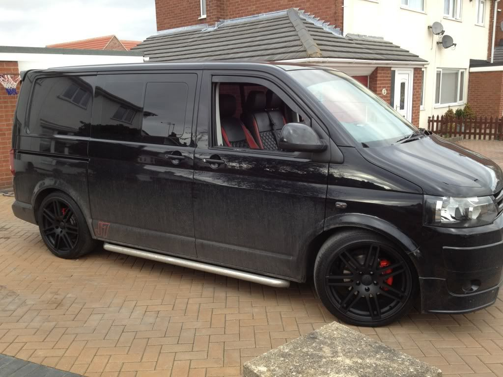 black alloys on black van vw t4 forum vw t5 forum t5. Black Bedroom Furniture Sets. Home Design Ideas