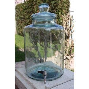 bonbonne cylindrique 12 litres avec robinet en verre 100 recycl mon bar sucre pinterest. Black Bedroom Furniture Sets. Home Design Ideas