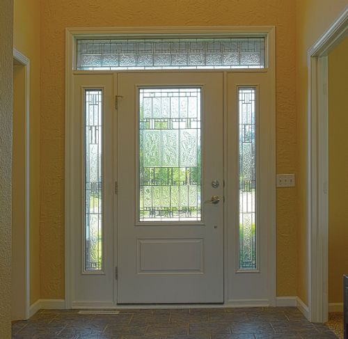 The Therma Tru Smooth Star 3 4 Lite 1 Panel Door Comes In