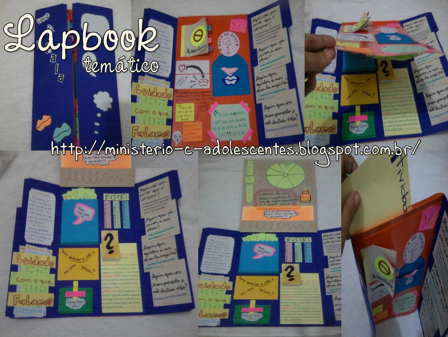 Célèbre Ministério Adolescentes: Lapbook | Lapbooks. Pop-up. Flap book  OU72