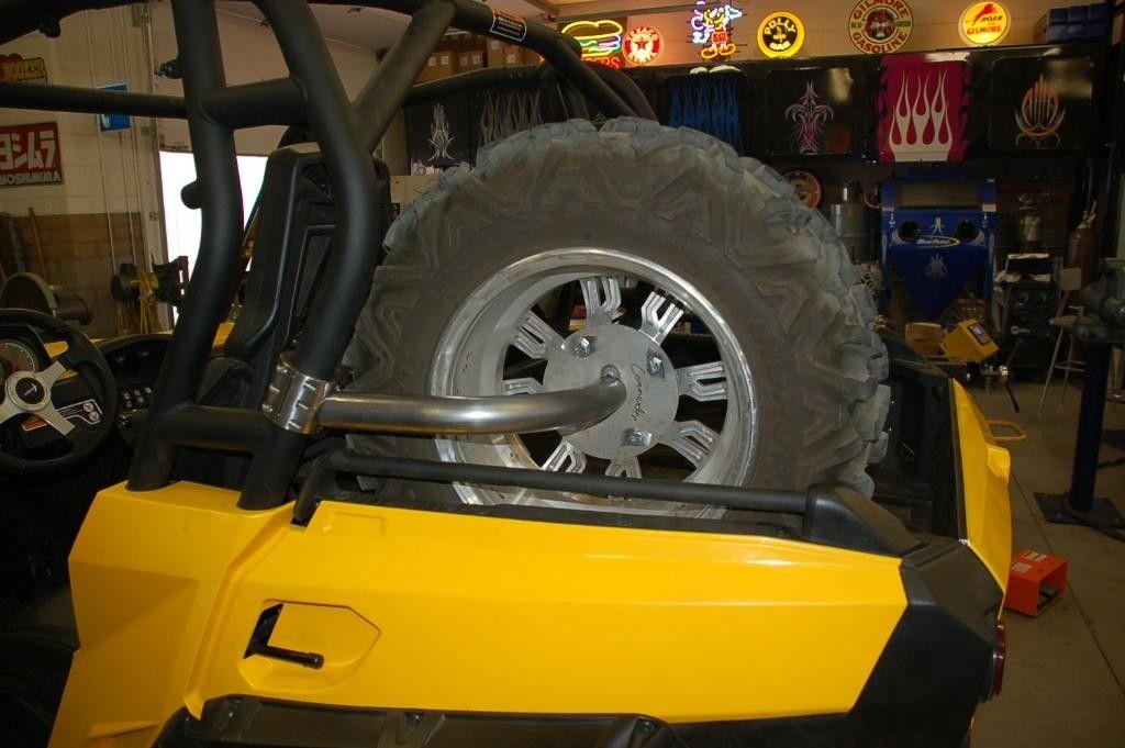 Utv Inc Can Am Commander Clamp On Spare Tire Mount Black