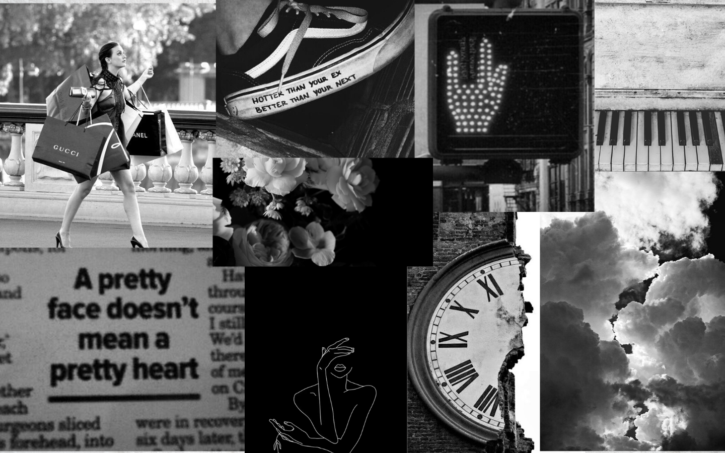 Aesthetic Black And White Wallpaper Black And White Desktop Backgrounds Black Aesthetic Wallpaper Desktop Wallpaper Black