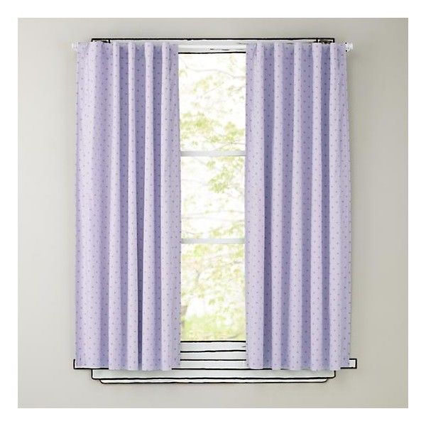 Polka Dot Blackout Curtains (Lavender) (£35) ❤ liked on Polyvore ...
