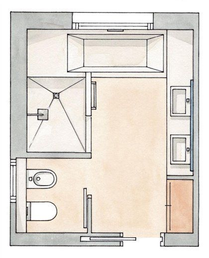 Aprovechar Cada Milimetro With Images Bathroom Layout