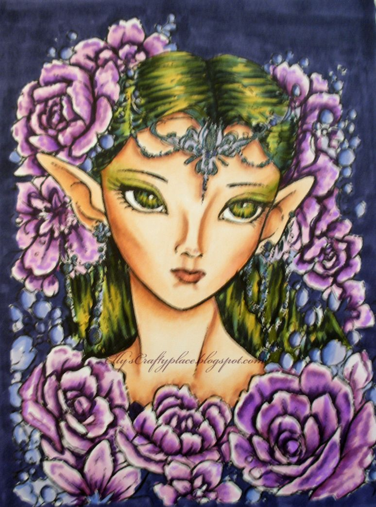 Another image from Aurora Wings....coloured with copic markers