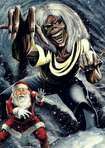 Navidark Iron Maiden Posters Iron Maiden Eddie Heavy Metal Christmas