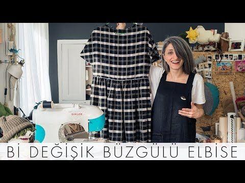 ea25da1d5514c Pratik Büzgülü Elbise Nasıl Dikilir I Bi Değişik Dikiş Okulu - YouTube