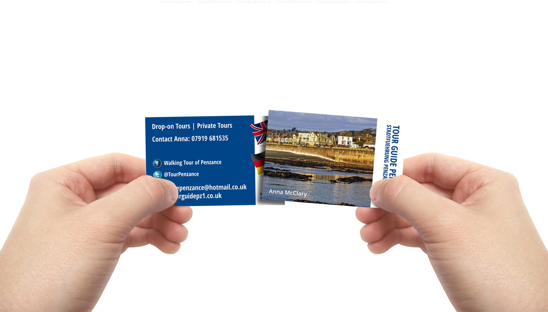 Anna McClary who provides walking tours in Penzance to both local ...