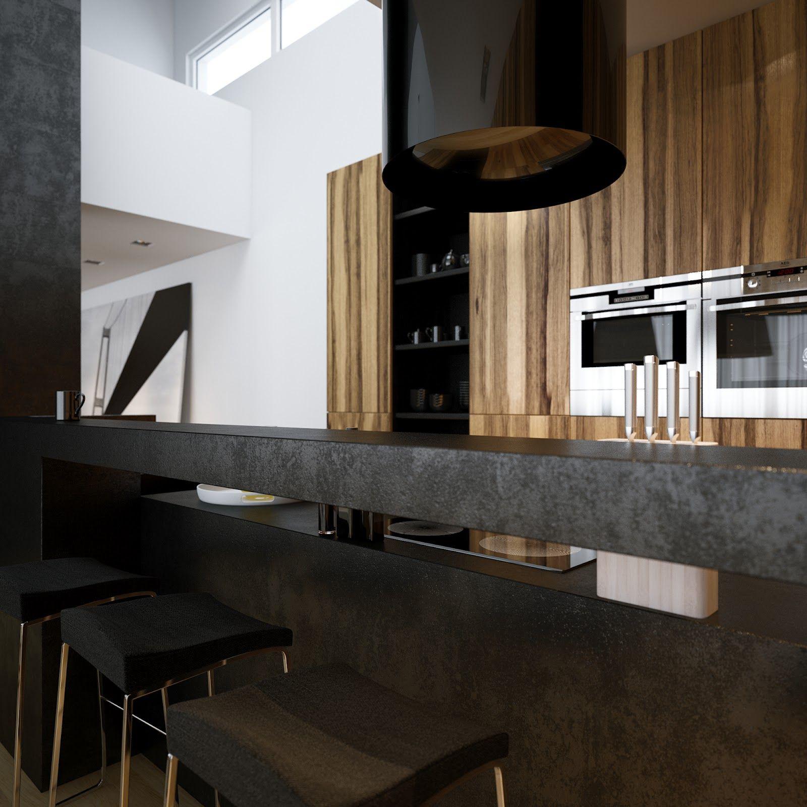 Luxury Minimalist Loft Designs in Black and White Image 21