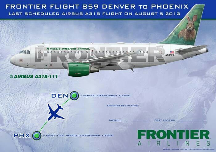 Frontier Airlines A318 100 Airlines Frontier Airbus