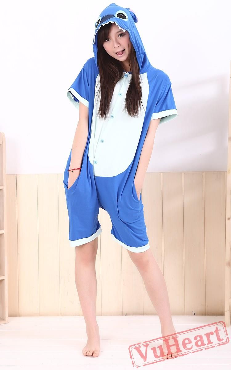f34960d1bfd8 Summer Blue Stitch Kigurumi Onesies Pajamas for Women   Men