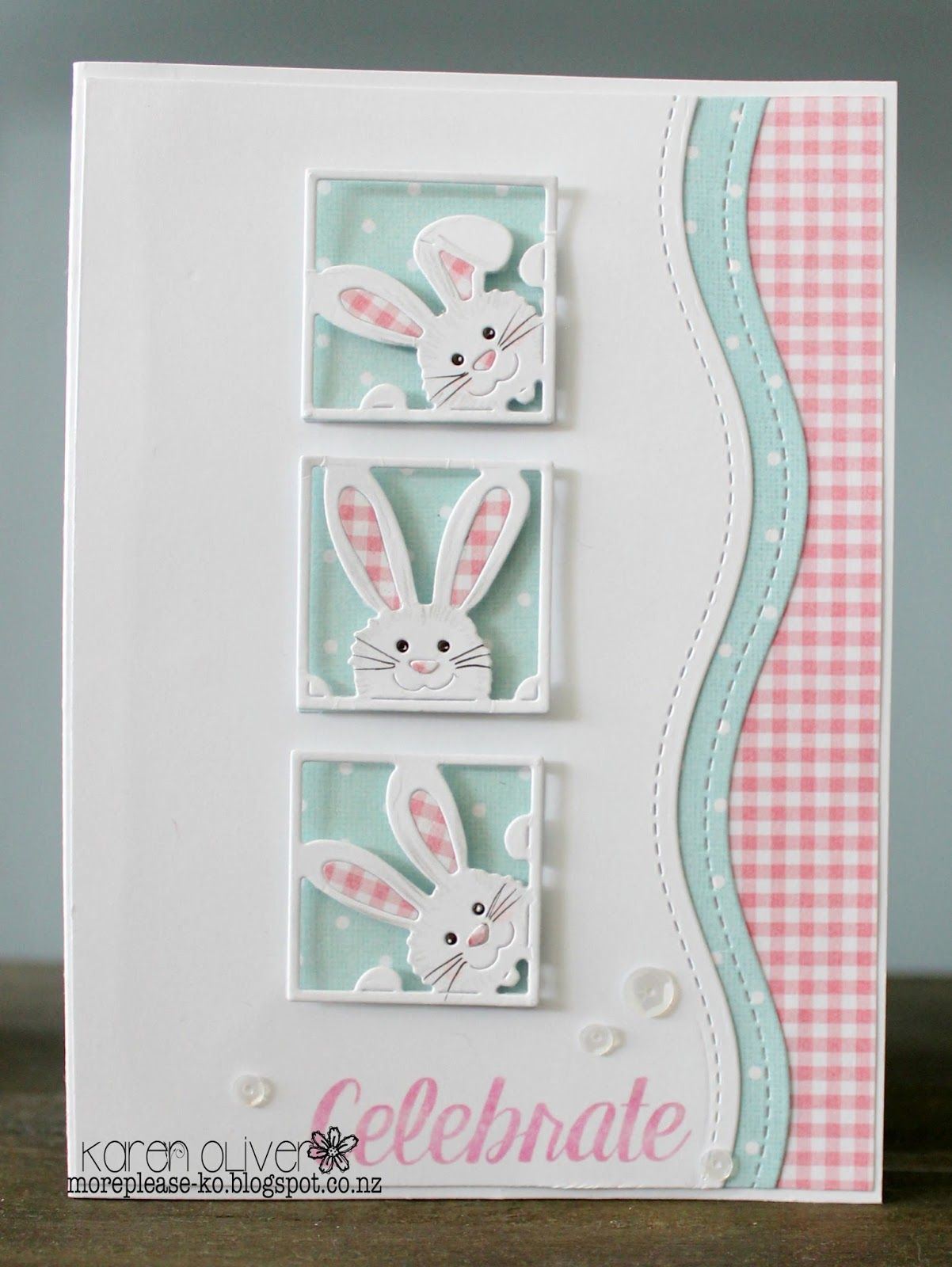 PK 12 PRETTY RABBIT EMBELLISHMENT FOR CARDS//CRAFTS