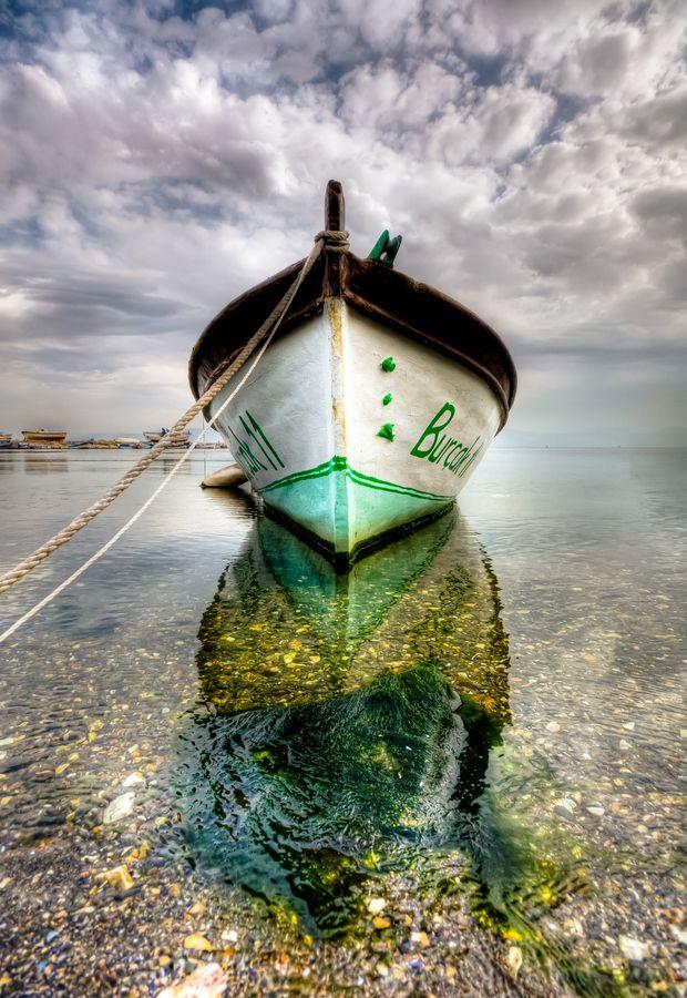 Stunning boat reflection...