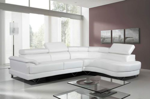 quality design ca026 7bea6 Cosmo White Leather Corner Sofa Right Hand | eBay | Ideas ...