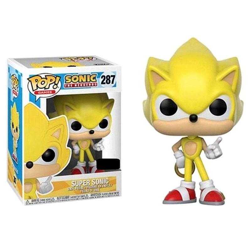 "SUPER SONIC 3.75/"" POP VINYL FIGURE FUNKO 287 POP EXCLUSIVE SONIC THE HEDGEHOG"