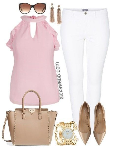 Plus Size Outfit - Girly Sophistication