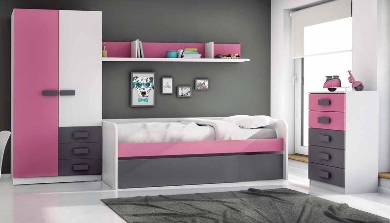 Dormitorio juvenil nia excellent stunning perfect for Cama nido hipermueble