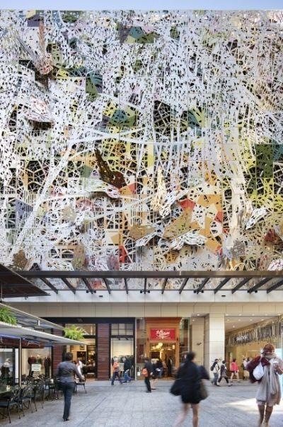 Modern Architecture Ornament wintergarden shopping centre facade in brisbane, australia