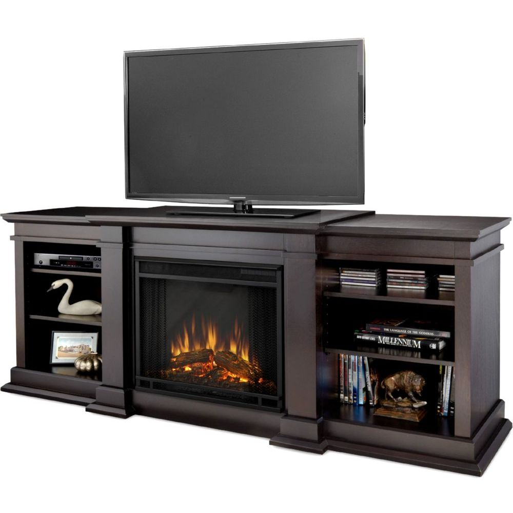 Real Flame G1200e Dw Fresno Tv Stand Electric Fireplace Dark