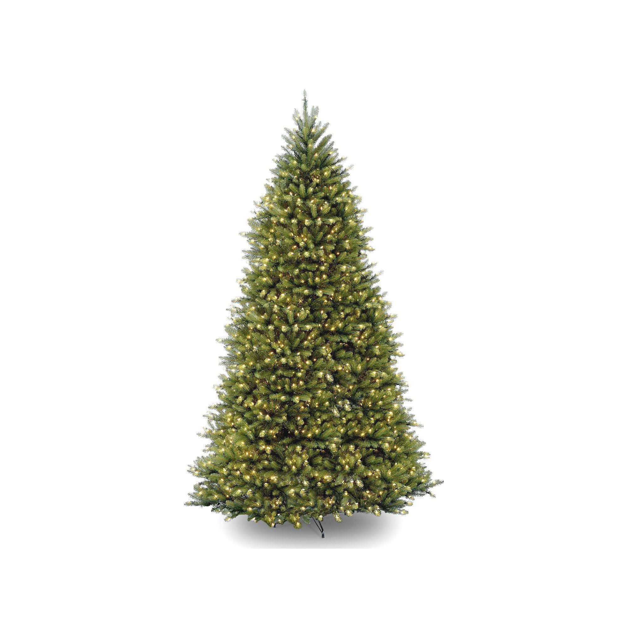 10 ft pre lit dunhill fir artificial christmas tree green - 10 Ft Artificial Christmas Trees