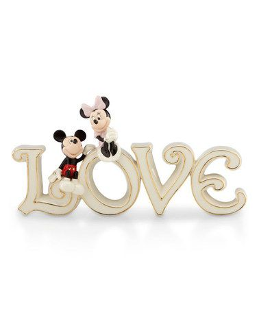 Look what I found on #zulily! Mickey & Minnie China & 24k Gold 'Love' Figurine #zulilyfinds