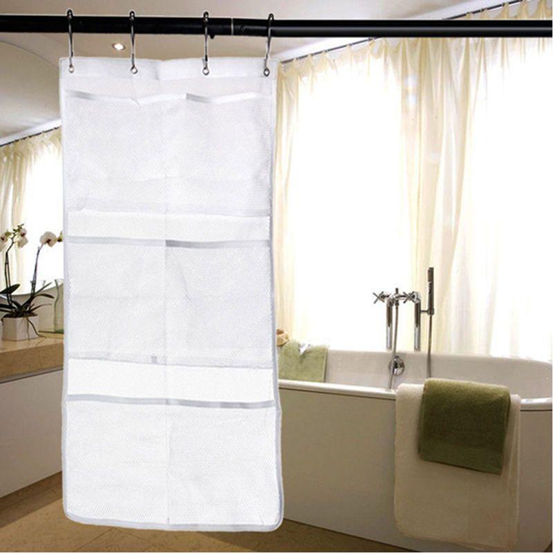 Mesh Bath Shower Organizer Bathroom Storage Soap Shampoo Toiletry Hang  Storage