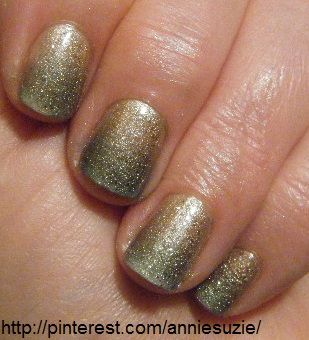 Day 8: Duo. CG: Swanky Silk & Unpredictable, Nails Inc: Glamour Glitter