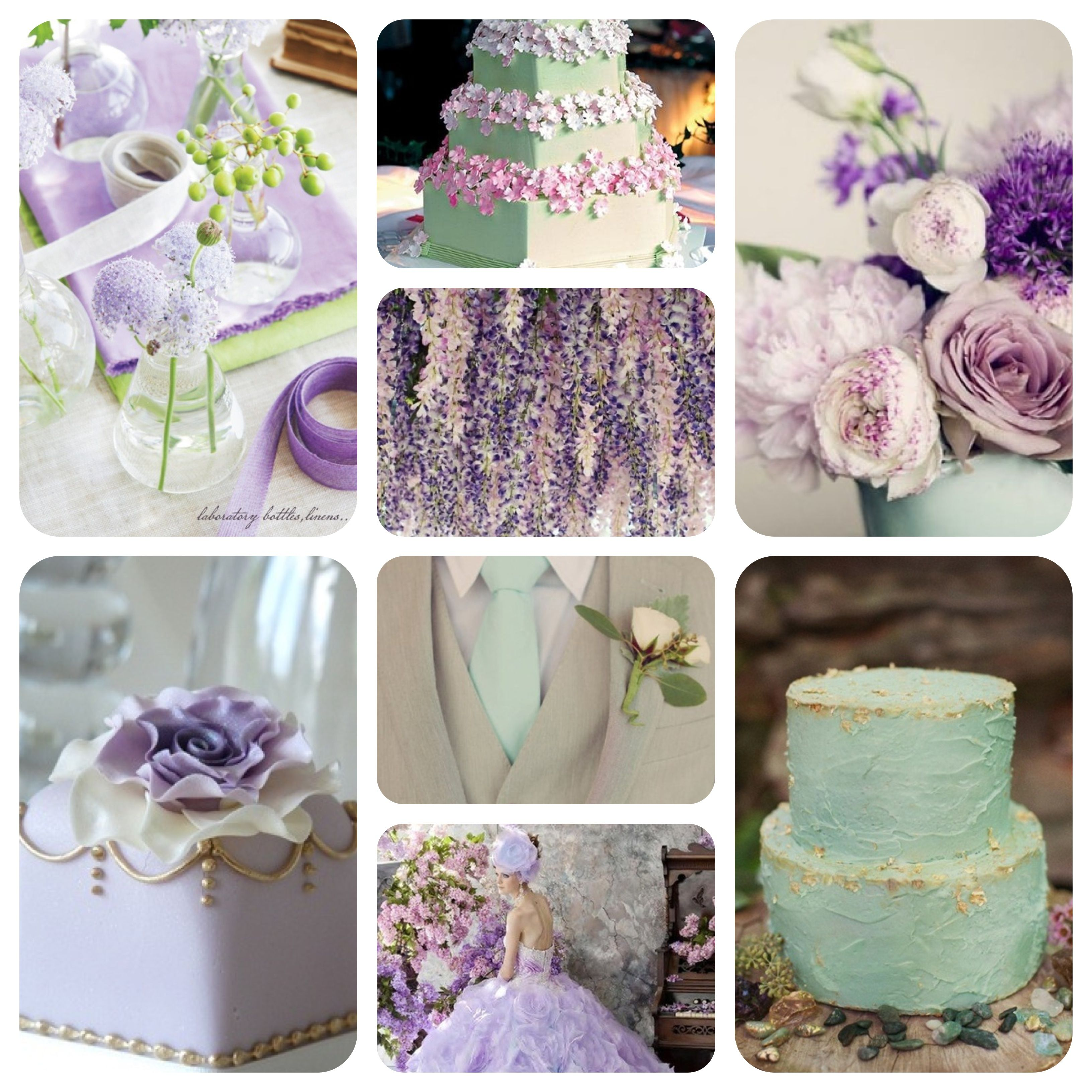 Mint Lilac And Gold Wedding Colour Scheme