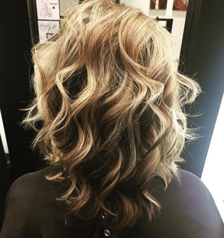 blonde highlights and textured