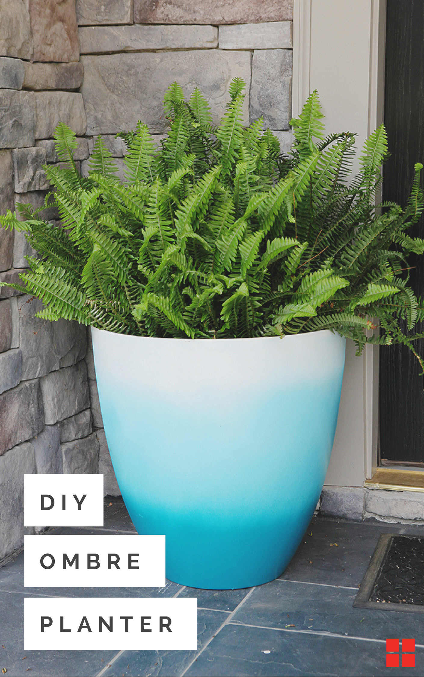 What Are You Planting This Weekend Fade To Blue Or Whatever Hue Your Heart Desires With This Easy Diy Flower Pots Outdoor Painted Flower Pots Outdoor Flowers
