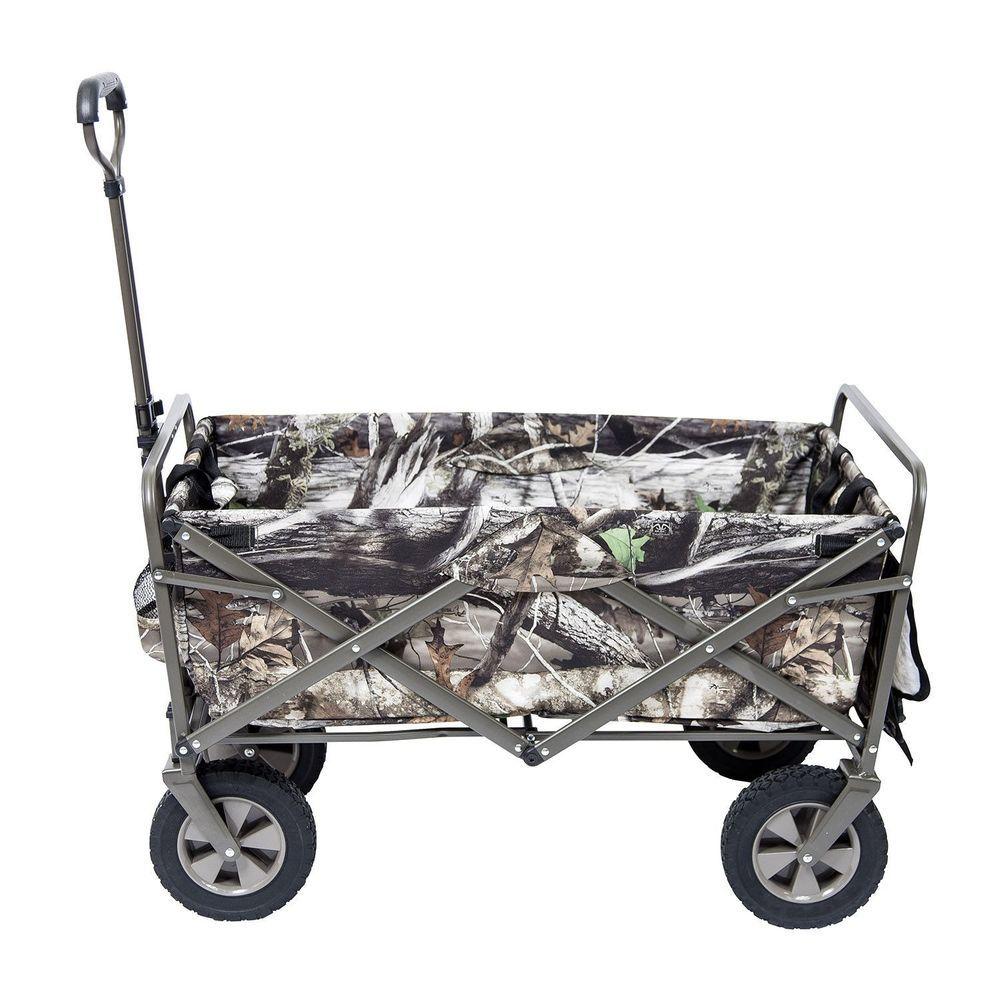 Camo Folding Wagon Collapsible Garden Beach Shopping Sports Cart Utility NEW