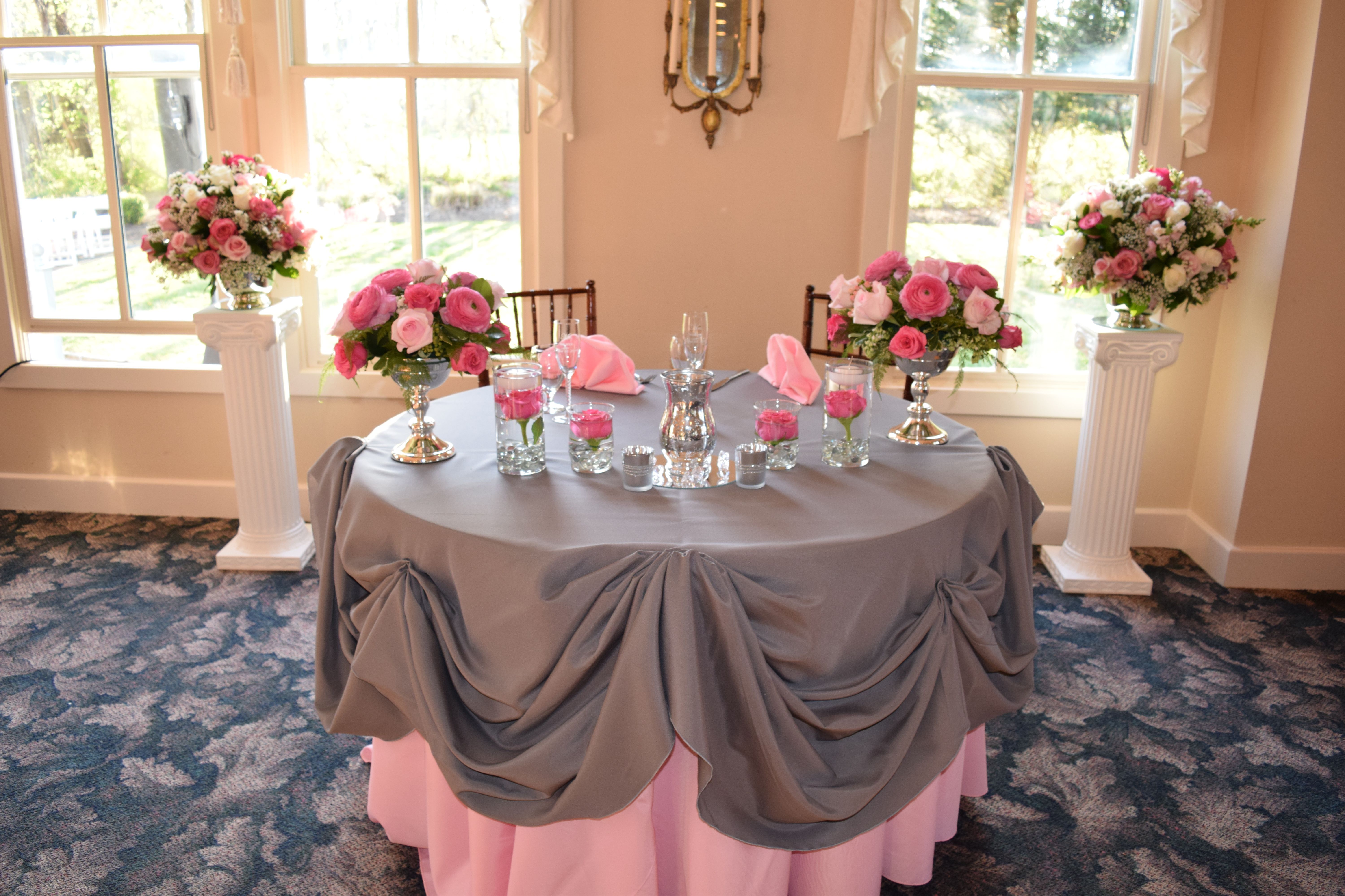 Historic Savage Mill Manor House Wedding Reception Sweetheart Table3 Putting On The Ritz
