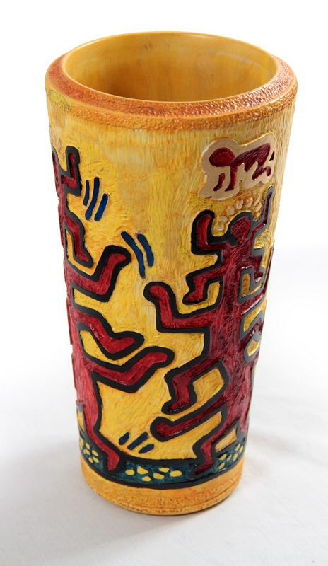 Keith Haring Vase For Jack Aa Wood Turning Pinterest Keith Haring
