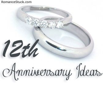 12th wedding anniversary present ideas