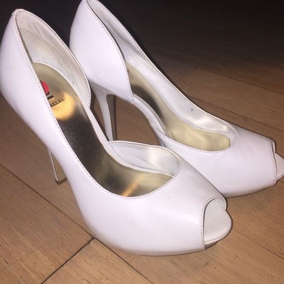 b9b4bbe6601b Baker brand leather open-toe platform pump Extremely gently used. Only worn  once!