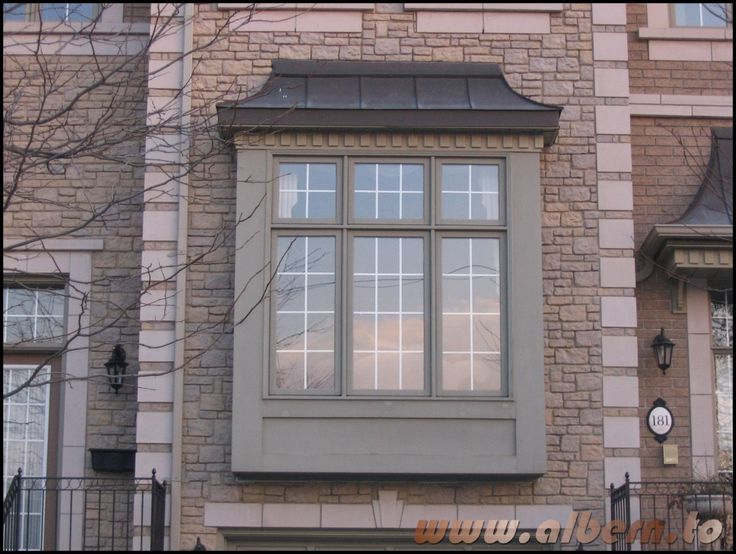 exceptional box bay windows #3: bay windows on second floor of house in front