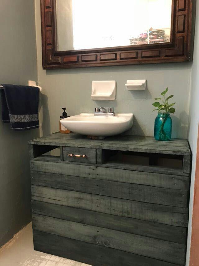 Mueble Para Cuarto De Baño Con Palets  miami