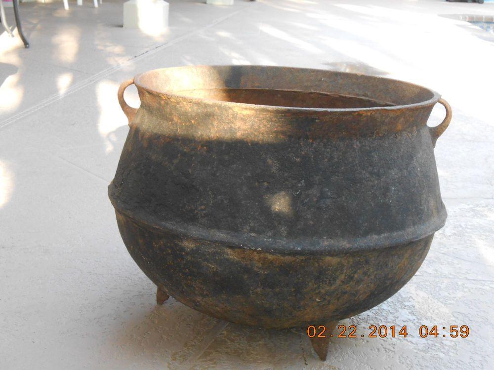 antique huge cast iron 12 cauldron wash pot cook pot 89 100 sold pots of all kinds. Black Bedroom Furniture Sets. Home Design Ideas