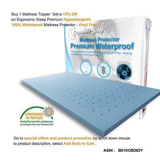 Amazon Com Visco Foam Tf17020q Ergonomic Sleep Queen Gel Foam