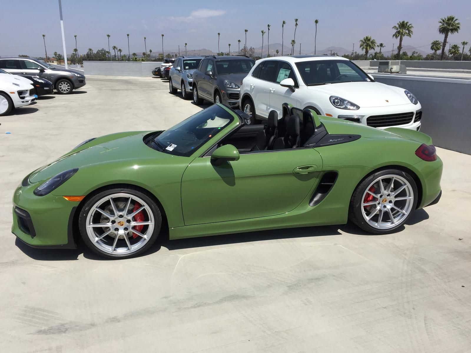 New pts olive green arrived rennlist discussion forums boxster spyderporsche