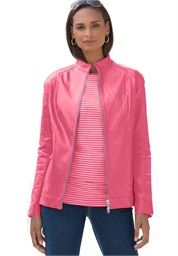 Discount On Jessica London® Zip Cuff Leather Jacket