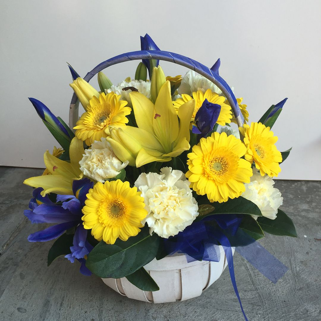 Basket arrangement to celebrate that special occasion,