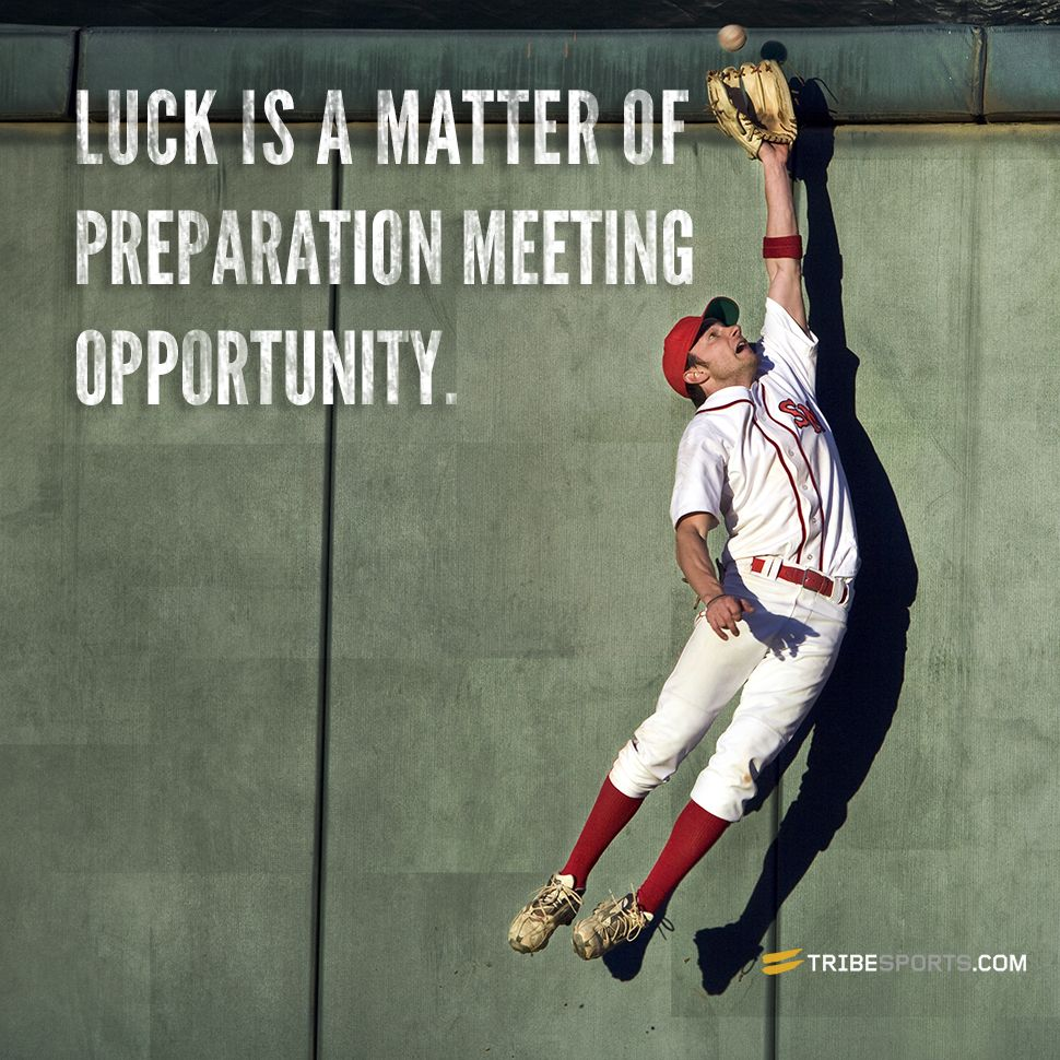 Pin By Shawn Thompson On Fitness Quotes: Luck Is A Matter Of Preparation Meeting Opportunity