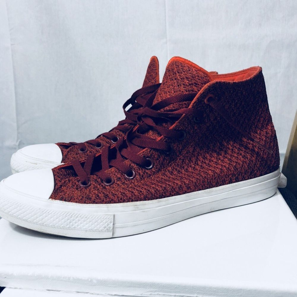5011272e2ddc Converse chuck taylor 2 HI Top Red Orange Mens Size 12 Womens Size 14 Good  Con  fashion  clothing  shoes  accessories  unisexclothingshoesaccs ...