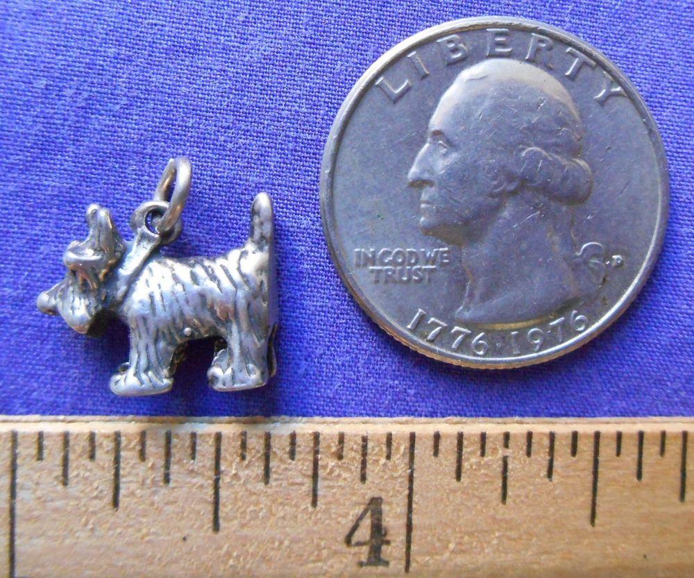 SOLD! SCOTTIE DOG Sterling Silver Jewelry Charm or Pendant SCHNAUZER, SCOTTISH TERRIER