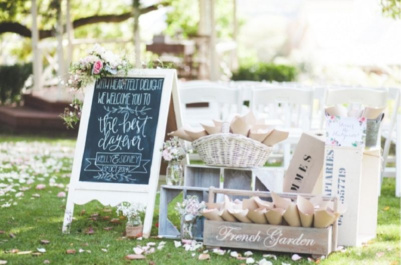 Vintage Rustic Wedding Hire By My Sweet Event Melbourne Decor Kraft Blackboard Sign