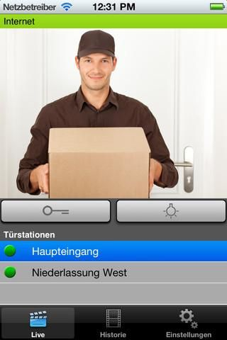 With this App you can access your myintercom doorphone  anytime. The system works in your local network (LAN) and also on the Internet - provided that the doorphone is connected to internet.<br>Unique features:<br>   * Receive a notification when someone rings the doorbell (sound and Push-Notification)<br>   * Watch the live video stream in real time, listen and speak from anywhere in the world<br>   * Clear live images in your office, home, garden and anywhere else<br>   * Answer the phone…