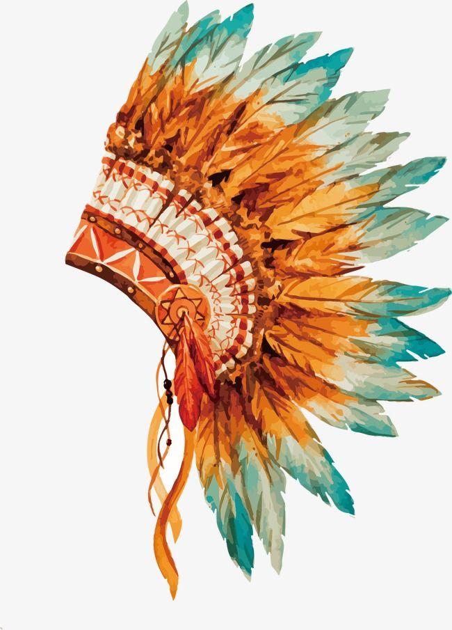 Vector De Indios Pintados A Mao Vector Pintados A Mao Cocar De Indio Imagem Png E Psd Para Download Gratuito Indian Headdress Headdress Tattoo Chiefs Headdress
