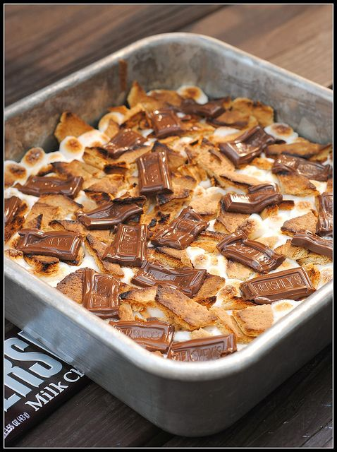 S'mores Brownies by preventionrd: Easy and budget friendly. #Brownies #Smores