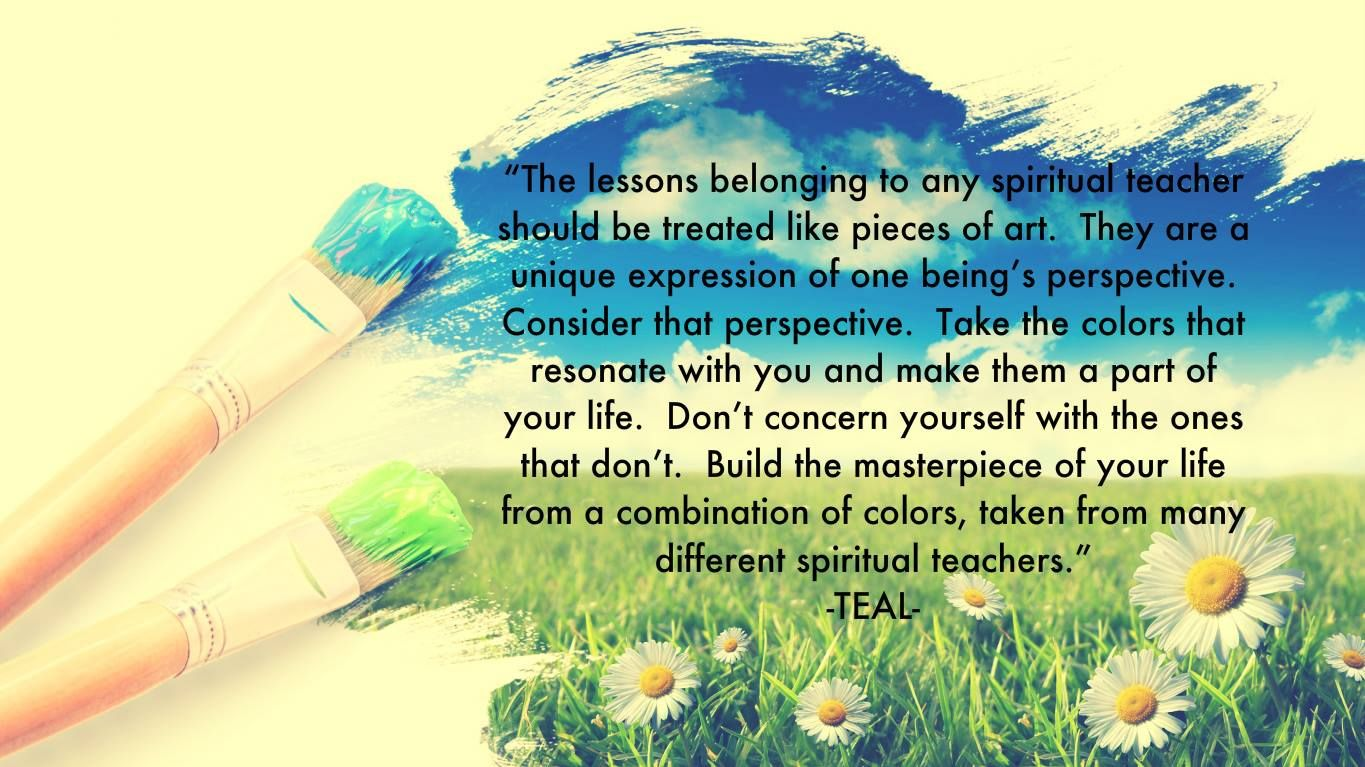 """""""The Lessons Belonging To Any Spiritual Teacher Should Be"""